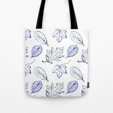 Leaves (navy) Tote Bag
