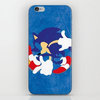 sonic iPhone & iPod Skins featuring Sonic by JHTY