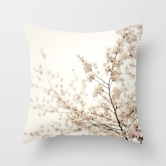 Cherry Blossoms - Central Park - New York City Throw Pillow