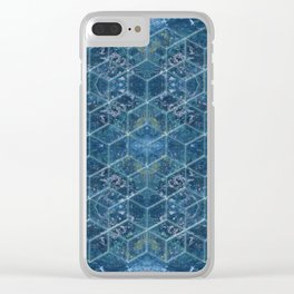 Crystal Geometry Clear iPhone Case