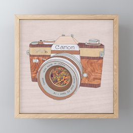 WOOD CAN0N Framed Mini Art Print