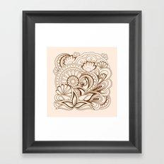 zen composition with mandalas Framed Art Print