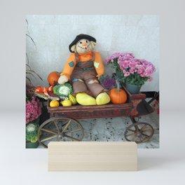 Autumn Scarecrow Mini Art Print