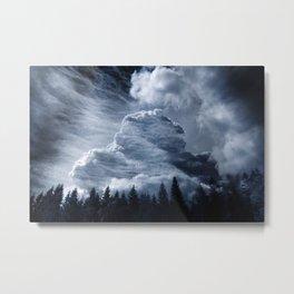 Drama Clouds Metal Print