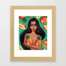 Pineapple Galore Framed Art Print