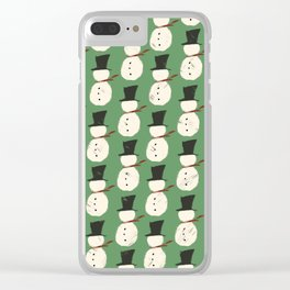 Jolly Green Snowguys Clear iPhone Case