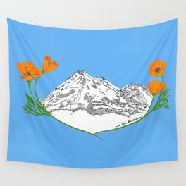 Shasta Poppies - Pop of Color Wall Tapestry