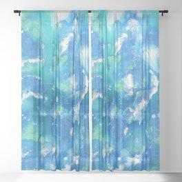 Aquatic Sky Sheer Curtain
