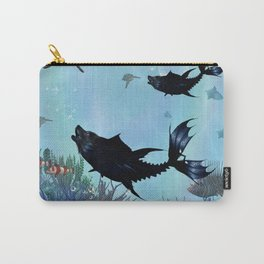 Awesome dark wolffish in the deep ocean Carry-All Pouch