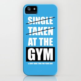 Lab No. 4 - At The Gym Gym Motivational Quotes Poster iPhone Case