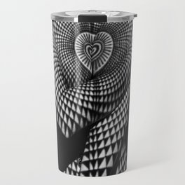 0622-JAL Heart Shape Pattern on Breasts and Nude Body Abstracted by Optical Patten Travel Mug