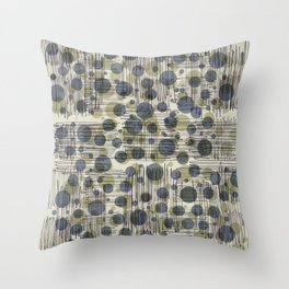 Soda Water Scribble Throw Pillow