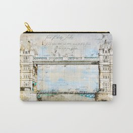 Tower Bridge, London England Carry-All Pouch