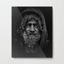 homeless man Metal Print