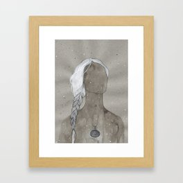 girl with silver oval telkari necklace Framed Art Print