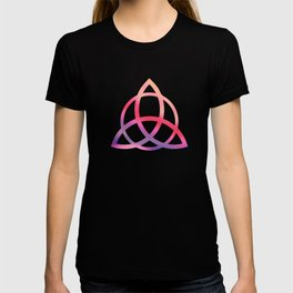 Purple Tie Dye Triquetra T-shirt