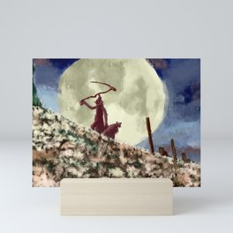 Bloodborne executioners scythe Mini Art Print