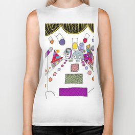 stage fright Biker Tank