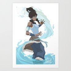 Avatar Korra - Water Art Print