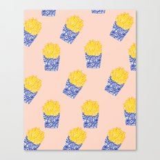 Floral Fries Canvas Print