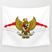 indonesia Wall Tapestries featuring The Garuda of Republic of Indonesia by dartodesignstore