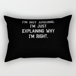 Funny Saying Quote Gift Idea Christmas Birthday Rectangular Pillow