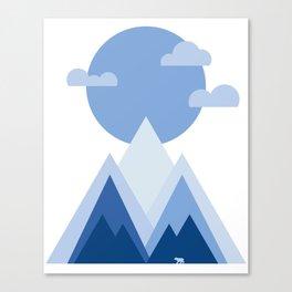 Blue Towering Mountain Sunrise Canvas Print
