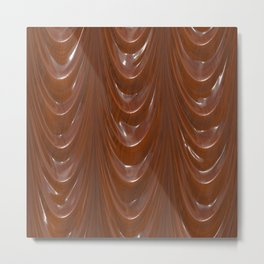 Decadent drapery,brown Metal Print