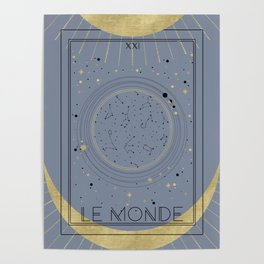 The World or Le Monde Tarot Poster