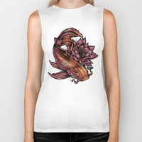 koi fish Biker Tanks featuring Koi Fish by Absorb81