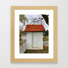 The Pumpkin House Framed Art Print
