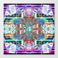 rave Canvas Prints featuring RATE RAVE by Riot Clothing