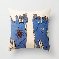 walking dead Throw Pillows featuring Walking Dead by Jordan Luckow