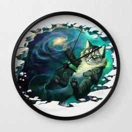 Galaxy Cat Wall Clock