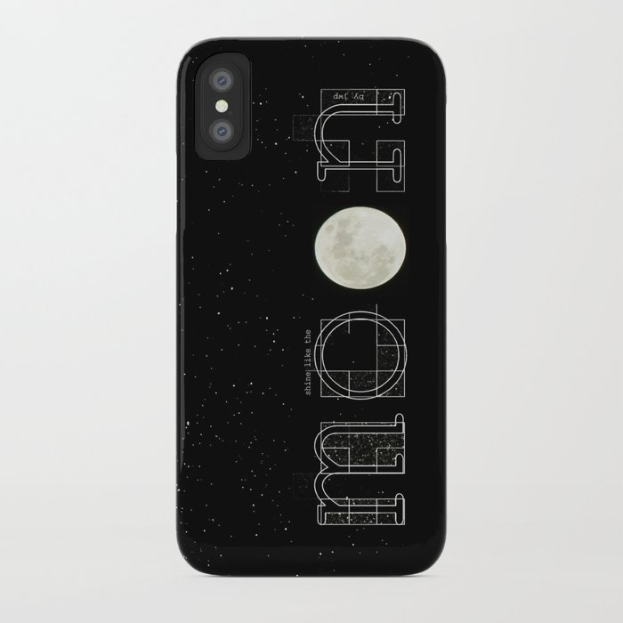 shine like the moon iPhone Case