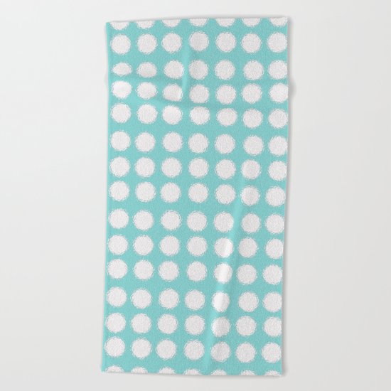 milk glass polka dots Beach Towel