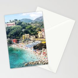 Cinque Terre Monterosso overlook Stationery Cards