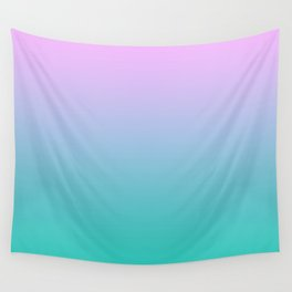 Pink Teal Ombre Gradient Summer Pattern Wall Tapestry