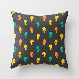 Halloween Seamless Skull Pattern Throw Pillow