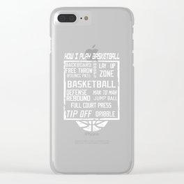 Basketball Basketball Basketballer Dunk Ball Clear iPhone Case