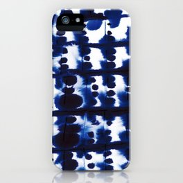 Parallel Indigo iPhone Case