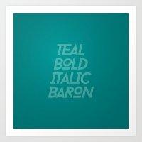MetaType Teal Art Print