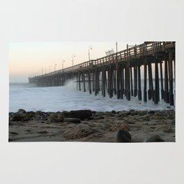 Ocean Wave Storm Pier Rug