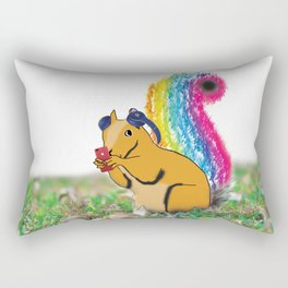 Listening Chipmunks Rectangular Pillow