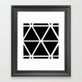 BLACK & WHITE TRIANGLES Framed Art Print