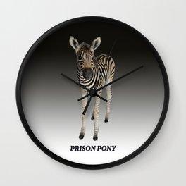 Prison Pony Wall Clock