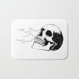 Skull #4 (Smoke and Bone) Bath Mat