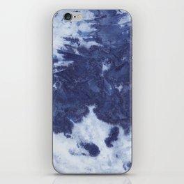 Indigo tie dye iPhone Skin