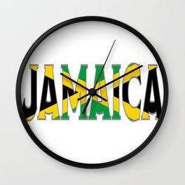 Jamaica Flag Font Wall Clock