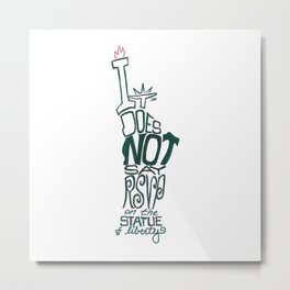 Don't Be Clueless Metal Print
